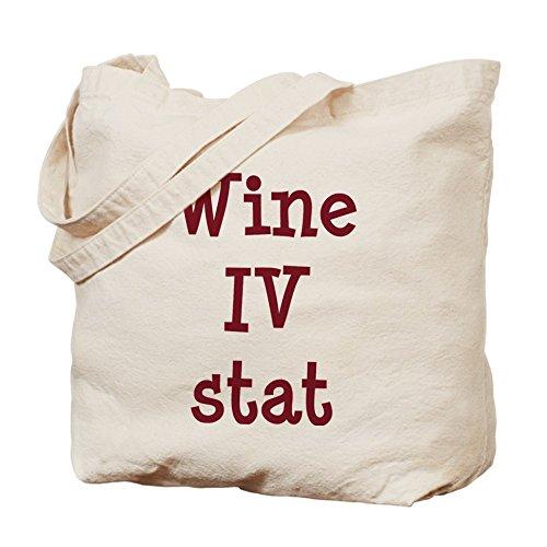 Cafepress–vino IV Stat–Borsa di tela naturale, tessuto in iuta