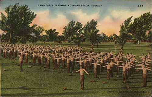 (Candidates Training Miami Beach, Florida Original Vintage Postcard)