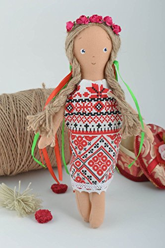 Beautiful Handmade Rag Doll Childrens Soft Toy Stuffed To...