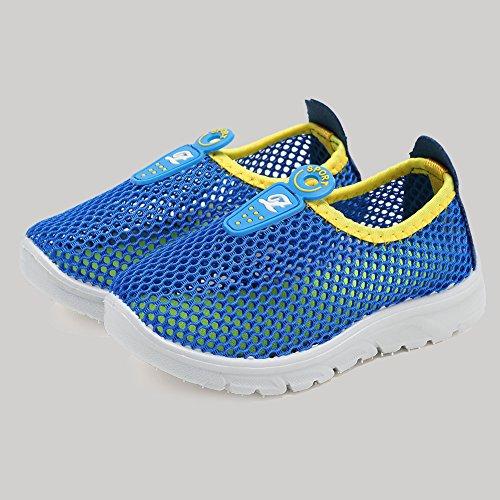 CIOR Kids Slip-on Breathable Sneakers For Running Beach Toddler / Little Kid,D110,Blue?32 5