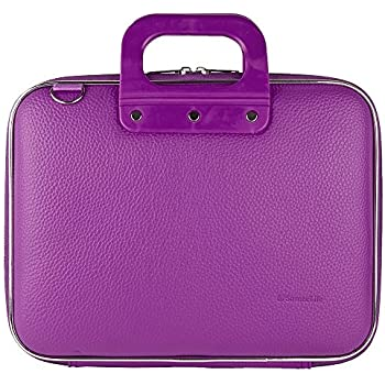 """Purple Lylic Shoulder Bag Briefcase for DBPower 9.5-Inch 10.5"""" Portable DVD Player with Rechargeable Battery, SD Card Slot and USB Port"""
