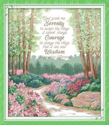 Joy Sunday Cross Stitch kits A quiet prayer 2 ,11CT Counted 61cm/×70 or 23.79/×27.3