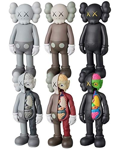 "FidgetGear 2018 8"" BFF KAWS Half Dissected Companion Action Figures Toy Black Without Box from FidgetGear"