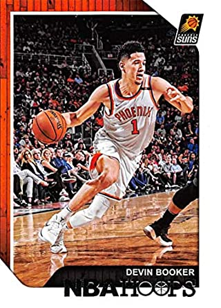 e816f3e4983d0 Amazon.com: 2018-19 Panini Hoops #87 Devin Booker Phoenix Suns NBA ...