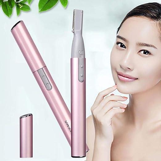 HKRT Mini afeitadora eléctrica para Cejas Afeitadora portátil para Cara y Cuerpo Afeitadora Depiladora Depiladora Facial Depilación con Pilas: Amazon.es: Hogar