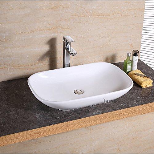 51RBTAB4NvL - Luxier CS-022 Bathroom Porcelain Ceramic Vessel Vanity Sink Art Basin