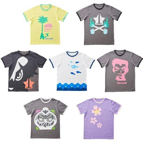 ポケモンセンターTシャツ コレクション 7種セット サン・ムーン ゲーム内アイテム風 大人用 フリーサイズ ヨワシ チェリム コンプ