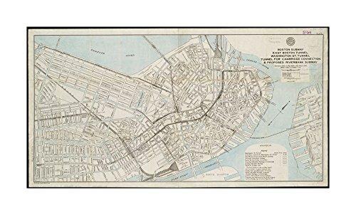 Subway Map Art Boston.1910 Map Boston Boston Subway East Boston Tunnel Washington St