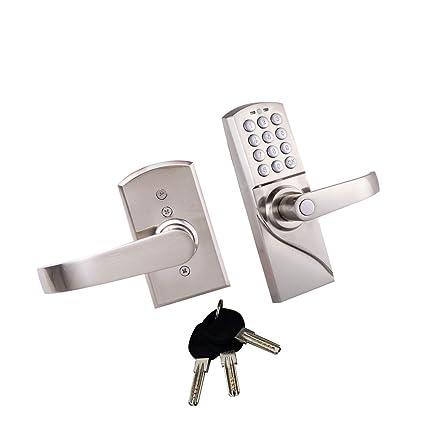 MagiDeal Código Electrónica Digital de Entrada de Seguridad Entrada Cerradura de Puerta Sin Llave - Manija