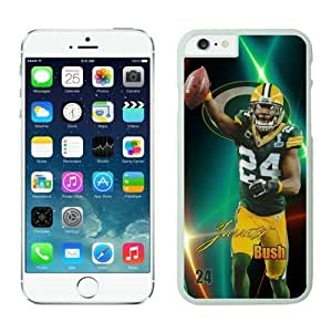 NFL Case Cover For Apple Iphone 6 Plus 5.5 Inch Green Bay Packers Jarrett Bush White Case Cover For Apple Iphone 6 Plus 5.5 Inch Cell Phone Case ONXTWKHB1664