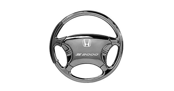 Amazon.com: Honda S2000 Negro cromado Volante Key cadena ...
