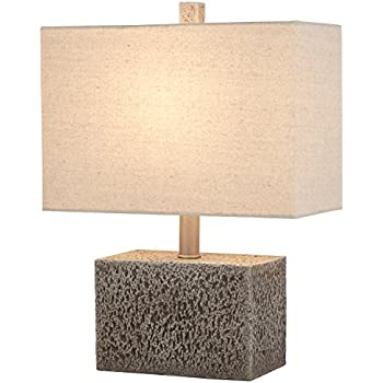 Stone beam industrial concrete table lamp 16 h with bulb brown stone beam modern slate rock table lamp 16 h with bulb white shade aloadofball Images