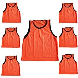 Bright Sun 6 pcs Scrimmage Vests Pinnies Soccer Youth Orange #BDMN
