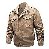 Nantersan Men's Casual Military Jacket Cotton Outdoor Coat Lightweight Windbreaker Jackets