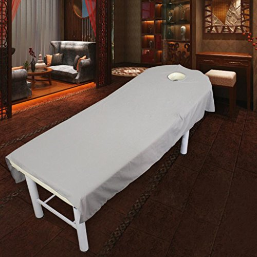 MagiDeal Rose Red + Gray Beauty Massage SPA Treatment Polyester Bed Cover 80190cm by Unknown (Image #4)