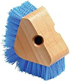 Carlisle 36196614 Triangle Scrubber, Polypropylene Bristles, 5'' Brush Size, 1-1/8'' Bristle Trim, Blue