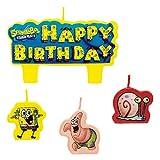 1 X SpongeBob Molded Cake Candles - 4/Pkg.