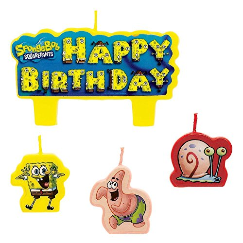 1 X SpongeBob Molded Cake Candles -