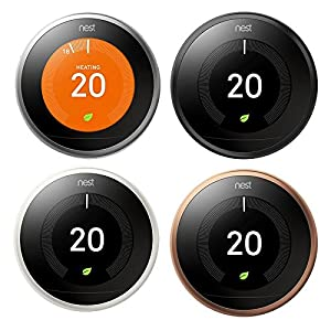 Nest Learning Thermostat, 3rd Generation, Works with Amazon Alexa from NESFH