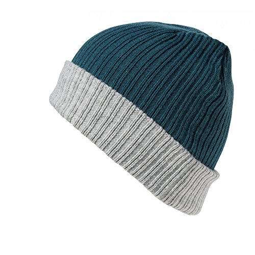 Essentials teal Capa Punto Gorro Modelo Gris Azul Result Winter Doble UfOnRAq