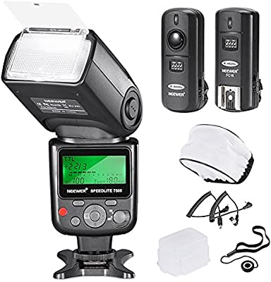 Neewer 10081398 750II TTL Flash Speedlite con Kit de Pantalla LCD ...