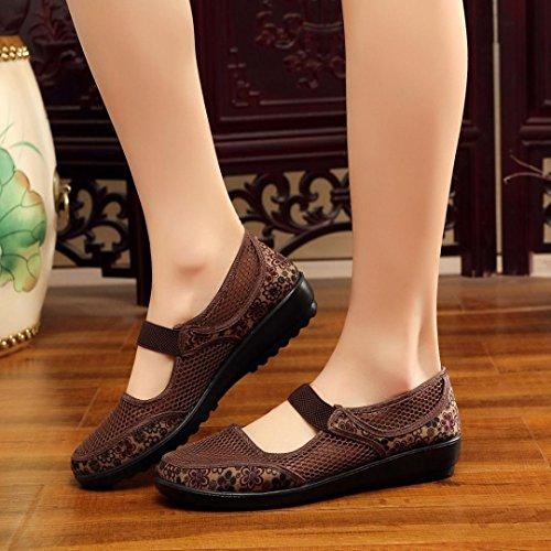 Zapatos Malla Transpirables Mocasines Alpargatas Respirable Mujer de Verano Zapatos para Ligero Sandalias Marr Zapatillas nxn8Fw7U6q