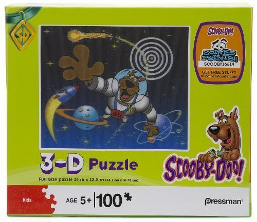 Scooby-Doo! Astronaut Scooby in Space 3-D Holographic 100 Piece (Scooby Doo 3 Piece)