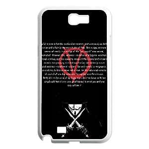 C-EUR Diy case V for Vendetta 3 customized Hard Plastic Case For Samsung Galaxy Note 2 N7100 [Pattern-3]
