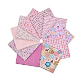 quilting fabric on sale - RayLineDo 10pcs 8 x 8 inches (20cmx20cm) Print Cotton Pink Series Fabric Bundle Squares Patchwork DIY Sewing Scrapbooking Quilting Pattern Artcraft Collection A