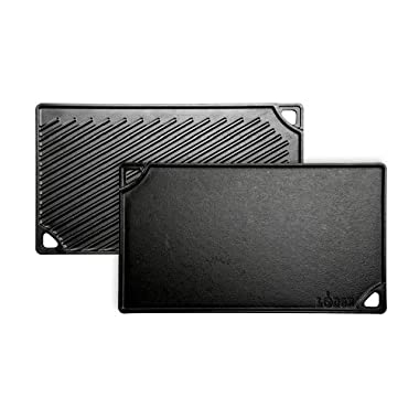 Lodge LDP3 Reversible Grill/Griddle, 9.5-inch x 16.75-inch