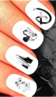 christmas nail art set stickers decals water transfers xmas seasonal holidays cute disney classic goofy - Disney Christmas Nails