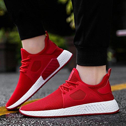 Gimnasia Rojo SóLida Zapatos Zapatillas Gimnasia Casuales Zapatos Cruzada Correr CóModo OHQ Moda De para Atado Zapatos De H0PxwHa