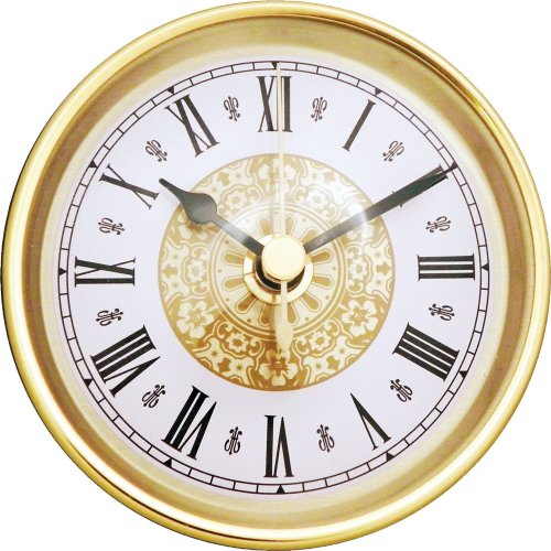 3-1/2 Fancy Roman Executive Series Clock Insert (Roman Insert Clock)