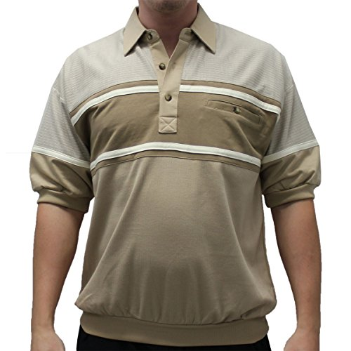 Banded Bottom Woodland Trail French Terry Short Sleeve Shirt 6090-160 Taupe (Large, (Terry Banded Bottom Shirt)