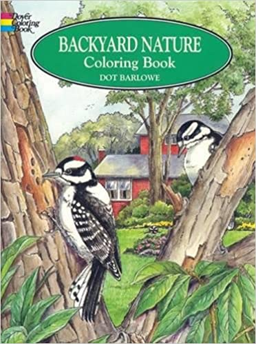 backyard nature coloring book dover nature coloring book dot barlowe 9780486405605 amazoncom books - Nature Coloring Book