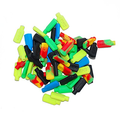 5 Non-stick Silicone Tips for Concentrate Wax Pick Dabber Tools Assorted Mix (Dab Wizard And Pick Container)