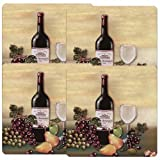 Reston Lloyd Square Gas Stove Burner Covers, Set of 4, Wine and Vines Pattern