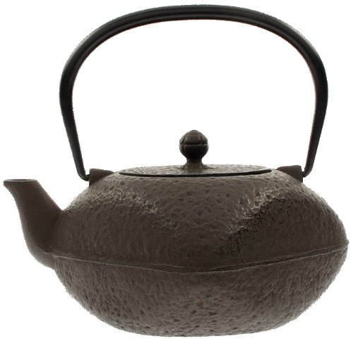 Iwachu Japanese Artisan Iron Tetsubin Square Teapot, 42-Ounce, Antique - Square Iron Infuser Cast