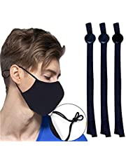 IUAQDP Sewing Elastic Band Cord with Adjustable Buckle Stretchy Earloop Lanyard Earmuff Rope DIY Mask Making Supplies,120 Pcs,Black