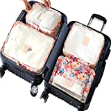6 Set Packing Cubes,Compression Travel Luggage Organizers with Laundry Bag Shoes Bag for Carry-on Luggage, Suitcase and Backpacking Accessories
