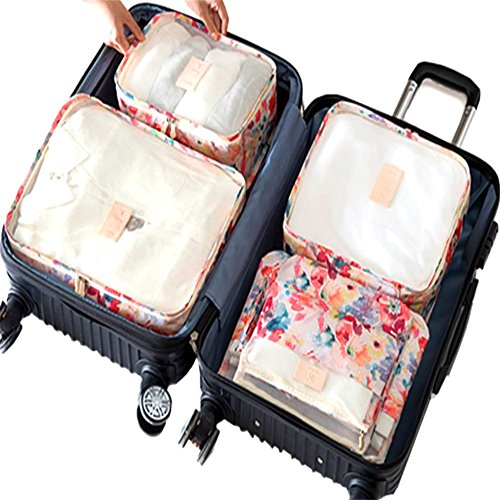 6 Set Packing Cubes,compression Travel Luggage Organizers