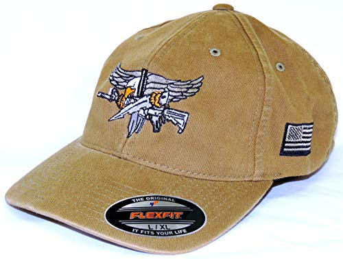 Baseball Flex Fit hat with SWAT Operator Insignia - OD Green S/M