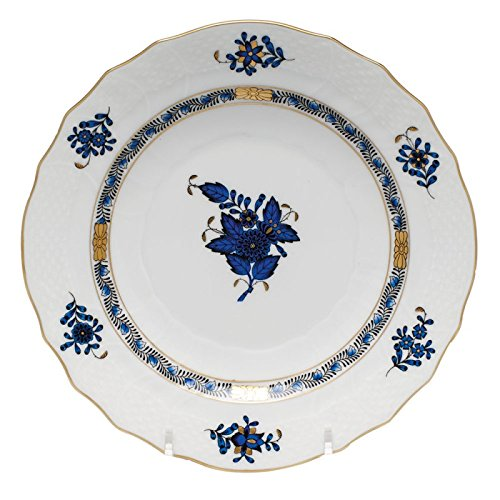 Herend Chinese Bouquet Black Sapphire Salad Plate ()