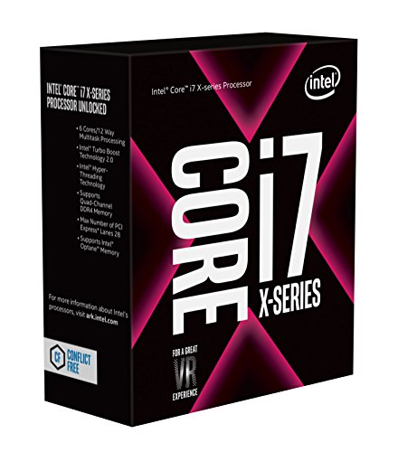 - Intel Core i7-7800X X-Series Processor 6 Cores up to 4.0 GHz Turbo Unlocked LGA2066 X299 Series 140W