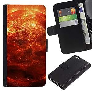 BearCase / Cuero de la tarjeta la carpeta del tirón Smartphone Slots Protección Holder /// Apple Iphone 6 PLUS 5.5 /// Espacio Planet Galaxy Estrellas 28