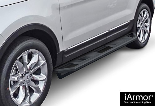 iArmor Aluminum Side Steps Armor Custom Fit 2011-2017 Ford Explorer Sport Utility 4-Door (Nerf Bars | Side Steps | Side - Fuel Rail Aps