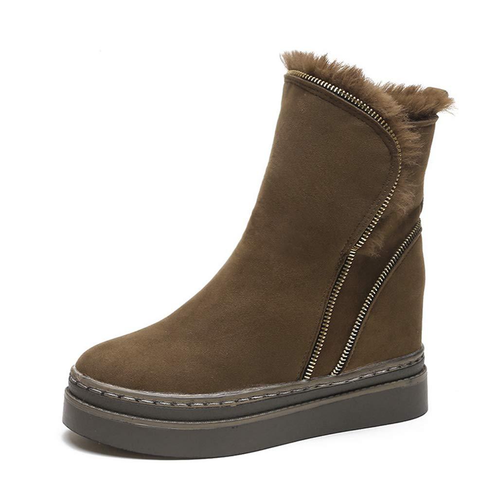 Frauen Versteckte Ferse Schnee Stiefel Stiefel Stiefel warme Stiefeletten im Freien Anti-Rutsch-Martin Stiefel Seite Reißverschluss Stiefelies bfd507