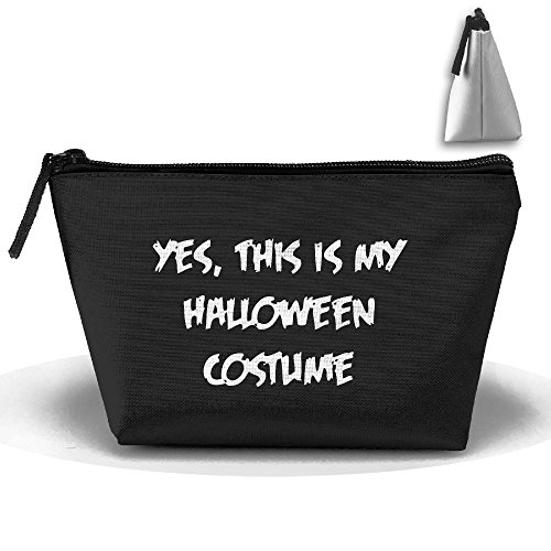 Epic Easy Halloween Costumes (Trapezoid This Is My Halloween Costume Travel And Home Zipper Up Portable Bag Bag Fashion Coin Purse)