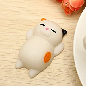 Amazon.com: BangBang Mochi Cat Kitten Squishy Squeeze Cute Healing Toy Kawaii Collection Stress ...