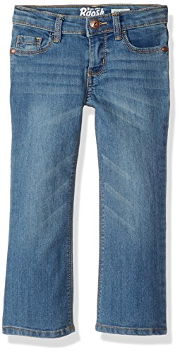 Brushed Denim Jeans (Osh Kosh Girls' Toddler Skinny Boot Denim, Brushed Blue, 3T)